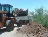 رفع 30 طن قمامة ومخلفات صلبة وأتربة بمركز جهينة بسوهاج