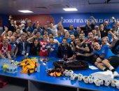 كأس العالم 2018.. شاهد احتفال رئيسه كرواتيا مع الفريق بالتأهل لنصف النهائى