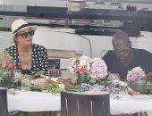 شاهد.. كريس جينر مع كورى جامبل على متن أحد اليخوت بإيطاليا