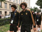 جولة فى شوارع بطرسبرج لمنتخب بلجيكا قبل مباراة فرنسا اليوم.. صور