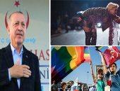"""أردوغان يرفع شعار """"أبيع نفسى"""".. 20 مليون دولار ساوت الخلافات مع إسرائيل.. الديكتاتور العثمانى رافع راية الخلافة يسمح بمسيرة للشواذ من أجل عيون الاتحاد الأوروبى.. ويقنن الدعارة للحصول على 4 مليارات دولار سنويا"""