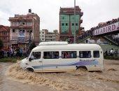 ارتفاع حصيلة قتلى الفيضانات والانهيارات الأرضية فى نيبال إلى 55 شخصاً