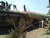 السكة الحديد:خروج 3 عربات من قطار 986 عن القضبان بحوش محطة المرازيق بالجيزة