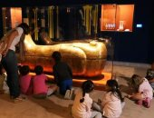 صور.. ورش تعليمية للأطفال على هامش معرض الكنوز الذهبية المصرية فى موناكو