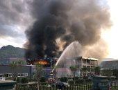 صور.. مصرع 19 وإصابة 12 فى انفجار مصنع كيماويات بالصين