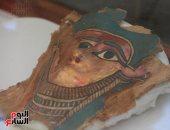 الآثار: القناع المكتشف فى سقارة من الفضة ويعود لكاهن من الأسرة الـ26 - صور