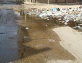 قارئ يرصد كسر ماسورة مياه بشارع حبيب فى كفر الدوار