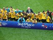 فيديو.. مراسم تتويج بلجيكا بالميدالية البرونزية لكأس العالم 2018