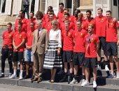 كأس العالم 2018.. ملك بلجيكا يستقبل ثالث المونديال فى القصر الملكى.. صور