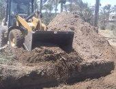 إزالة فورية لحالة تعدى على أرض زراعية على مساحة 144 مترا بدمياط