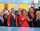 بعد 4 سنين.. ملكة بلجيكا تظهر بنفس الإكسسوارات فى مونديال 2014 و 2018