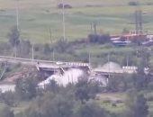 شاهد.. لحظة انهيار جسر بمدينة تشيتا الروسية