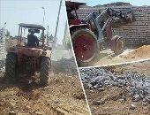 إزالة 370 حالة تعد علي الأراضي الزراعية بالمنيا