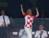 صور.. ردود أفعال رئيسى كرواتيا وفرنسا خلال متابعة نهائى مونديال روسيا