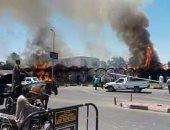 قارئ يشارك بصور حريق بموقف حنطور بجوار معبد الأقصر