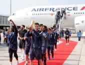 فيديو وصور.. منتخب فرنسا يصل باريس بعد تتويجه بلقب كأس العالم 2018