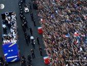 استقبال مبهر لنجوم المنتخب الفرنسى من الجماهير فى شانزيليزيه.. فيديو وصور