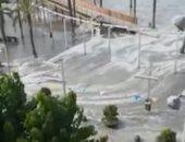 فيديو.. أمواج تسونامى تضرب مايوكا الإسبانية ووفاة سائحة ألمانية