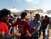 صور.. توافد الجماهير على استاد برج العرب لحضور مباراة الأهلى وتاونشيب