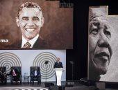 أوباما ينتقد سياسة ترامب خلال حفل تكريمى لنيلسون مانديلا بجنوب أفريقيا