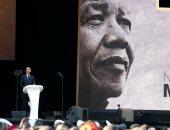صور.. أوباما يلقى كلمة بحفل تكريمى لنيلسون مانديلا فى جنوب أفريقيا