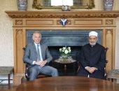 الإمام الأكبر يلتقى تونى بلير بمقر إقامته فى لندن لتعزيز سبل التعاون