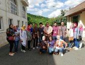 الوفد الثانى عشر من طلاب جامعة أسيوط يصل روسيا لقضاء فترة دراسية