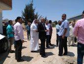 رئيس مدينة بئر العبد يتفقد إنشاءات محطة الصرف بقرية 6 أكتوبر