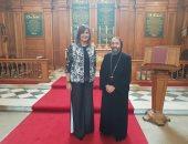 وزيرة الهجرة تلتقى الأنبا أنجيلوس أسقف عام إنجلترا للكنيسة القبطية الأرثوذكسية