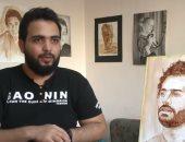 """فيديو.. فنان مصرى يبدع فى رسم لوحات معقدة على """"حبة لبان"""""""
