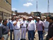 حملة أمنية لإزالة التعديات على أملاك الدولة بحى الضواحى ببورسعيد