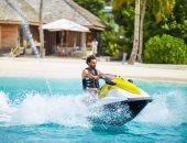 """محمد صلاح ينشر صورة جديدة بـ""""الجيت سكى"""" فى بحر المالديف"""