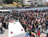 صور.. وصول سوريين من قرية اشتبرق وبلدتى كفريا والفوعة إلى اللاذقية