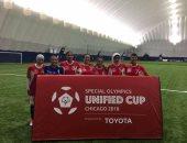 صور..منتخب الكرة النسائية للاولمبياد الخاص يفوز ببرونزية كأس العالم بشيكاغو