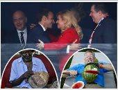 """صور.. نص العالم الحلو × أسبوع.. رئيسة كرواتيا تعانق ماكرون بعد تتويج فرنسا بكأس العالم.. فورمان يسجل رقما قياسيا بقطع 26 بطيخة إلى نصفين فى دقيقة.. أوباما يؤدى """"رقصة ماديبا"""" خلال احتفالية ذكرى ميلاد مانديلا"""