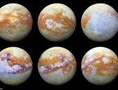 """ناسا تكشف عن أوضح صور لأكبر أقمار كوكب زحل """"تيتان"""" منذ 13 عاما"""