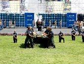 تدريبات قتالية ومهارات بدنية لطلاب أكاديمية الشرطة في مصنع الرجال