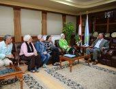 """محافظ كفر الشيخ يستقبل رئيس جمعية نساء مصر لتفعيل مبادرة """"إحنا السند"""" (صور)"""