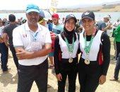 مريم ياسر وميار عبد اللطيف تحصدان فضية زوجى التجديف بالألعاب الأفريقية