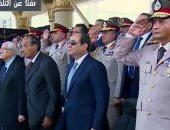 السيسي: علاقة الشعب بأبنائه فى القوات المسلحة والشرطة سر مصرى