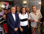 عبدالحكيم وعبدالحميد عبدالناصر يصلان ضريح الزعيم الراحل لإحياء ذكرى 23 يوليو