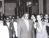 صور نادرة لخطاب جمال عبدالناصر باستاد المحلة فى احتفالات ثورة يوليو عام 1966