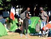 صور.. إخلاء مخيم للمهاجرين فى فرنسا يضم أكثر من 450 شخصا
