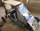 """""""سيارة تعمل بالهواء"""" مشروع تخرج جديد لطلاب هندسة حلوان.. صور"""