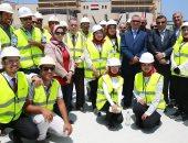 فتيات كفر الشيخ يستقبلن افتتاح الرئيس لمحطة كهرباء البرلس بالزغاريد