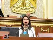النائبة ماريان عازر ترد على برنامج حكومة مصطفى مدبولى بعرض تقديمى - صور