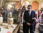 """""""المتحف المصرى لن يموت"""" شعار جولة وزير الآثار بالمتحف الكبير"""
