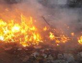 شكوى من حرائق القمامة بمدخل قباء فى جسر السويس