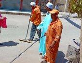 """صور.. مبادرة """"هنخلى بلدنا أحلى"""" لتنظيف شوارع مدينة بنى سويف"""