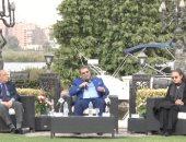 سكينة فؤاد ومحمد فاضل وفردوس عبد الحميد ضيوف حسن راتب بصالون المحور الثقافى الليلة